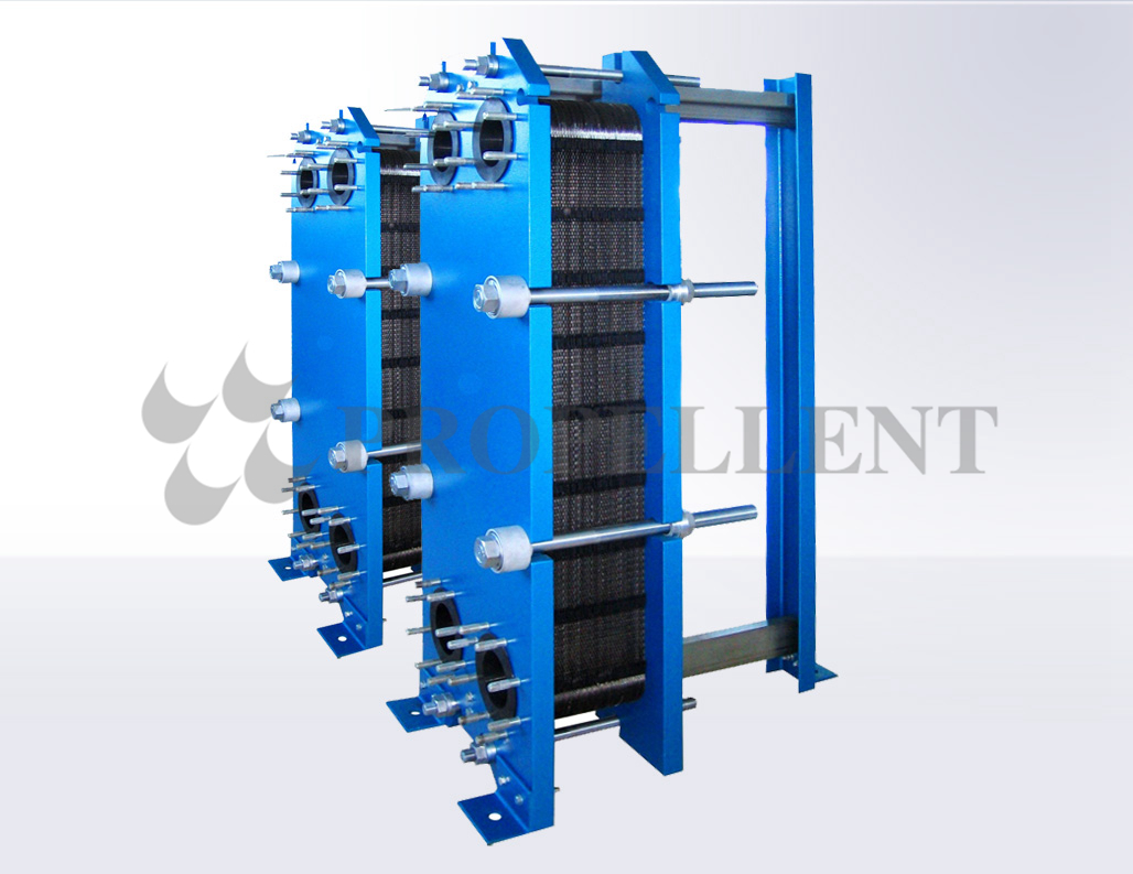 Wide-runner plate heat exchanger