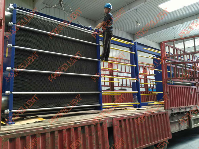 New wide gap plate heat exchangers are delivered