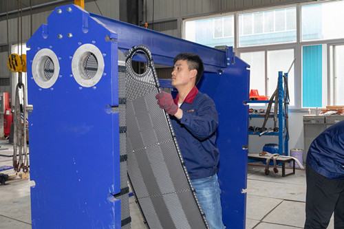 What are the advantages of the Propellent wide-channel heat exchanger